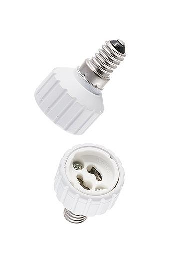 lampen shop otto zern umwandlungsfassung lampenfassung adapter e14 auf gu10. Black Bedroom Furniture Sets. Home Design Ideas
