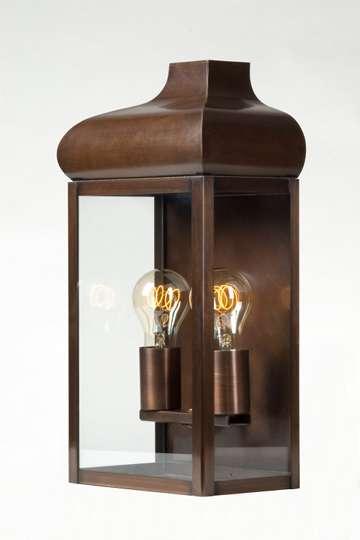 lampen shop otto zern kupfer wandlampe br niert. Black Bedroom Furniture Sets. Home Design Ideas