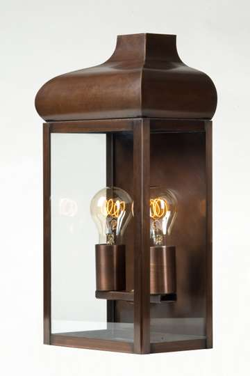 lampen shop otto zern messing wandlampe kupfer br niert. Black Bedroom Furniture Sets. Home Design Ideas
