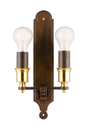 Lampen shop otto zern geschmiedete wandlampe artio 2 flammig for Lampen 2 flammig
