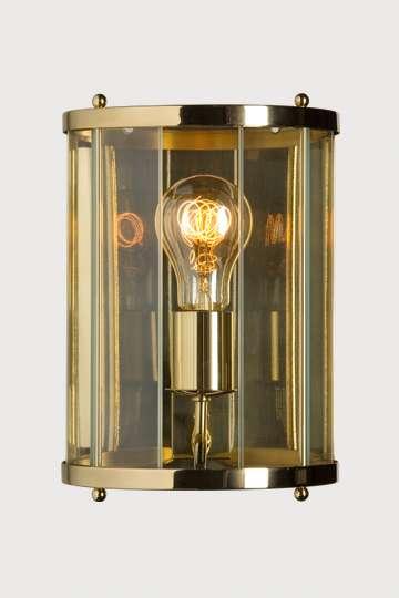 lampen shop otto zern messing wandlampe mit glasstreifen. Black Bedroom Furniture Sets. Home Design Ideas
